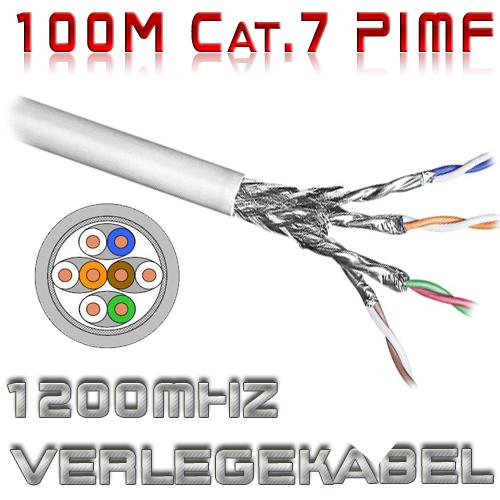 cat7 verlegekabel pimf 1200mhz 100m rolle netzwerk kabel patchkabel dsl isdn lan ebay. Black Bedroom Furniture Sets. Home Design Ideas