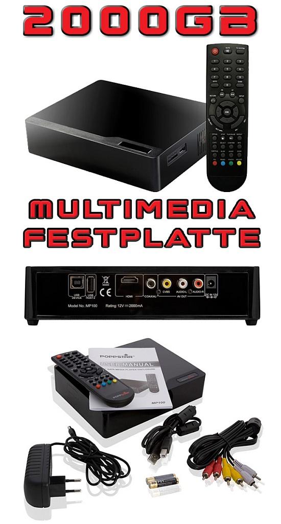 Multimedia Festplatte Hdmi